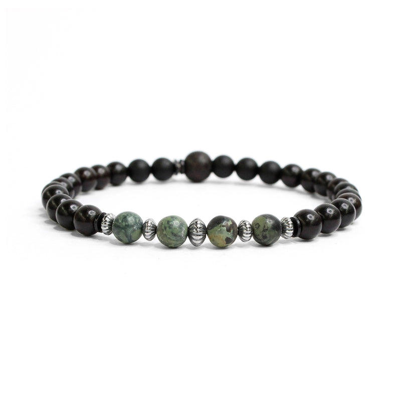 Ebony Wood, Sterling and Gemstone