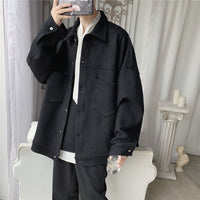 Privathinker Men's Solid Oversized Suede Jackets Korean Style Men Casual Loose Coats 2020 Autumn New Men's Fashion Outerwear