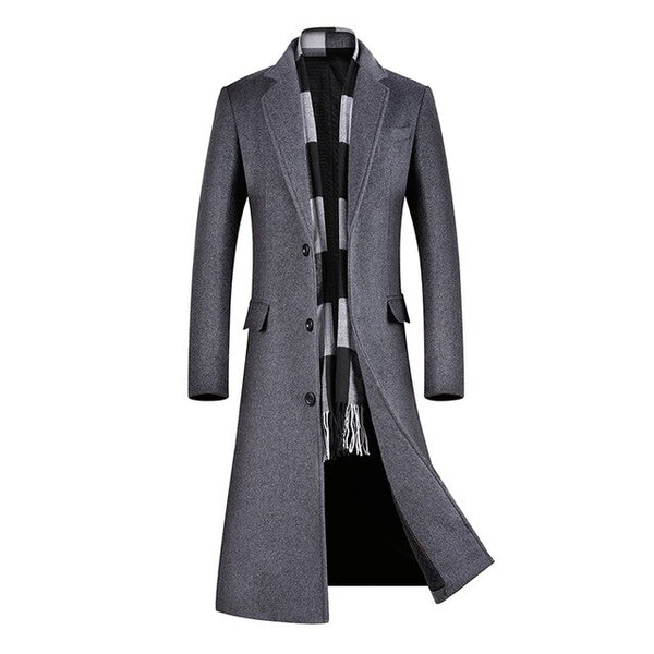 Coats for Men,Long Coat Men,A Long Jacket Below The Knee,Men's Overcoat,Men's Coat Windbreaker,Men Coats, Long Overcoat Men