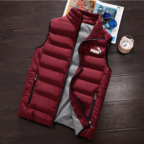 Mens Jacket Sleeveless Vest Winter Fashion Casual Slim Coats Brand Clothing Cotton-Padded Men's Vest Men Waistcoat Big Size pd1