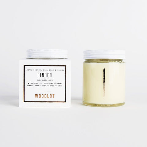 WOODLOT Cinder 8oz Coconut Wax Candle