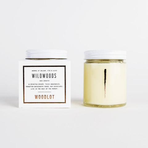 WOODLOT Wildwoods 8oz Coconut Wax Candle