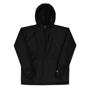 ALL BLACK - Embroidered Champion Packable Jacket
