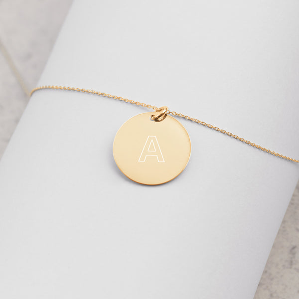Customizable Engraved (Rose, Gold, Silver) Disc Necklace