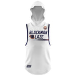 BLACKMAN BLAZE SLEEVELESS HOODIE WHITE