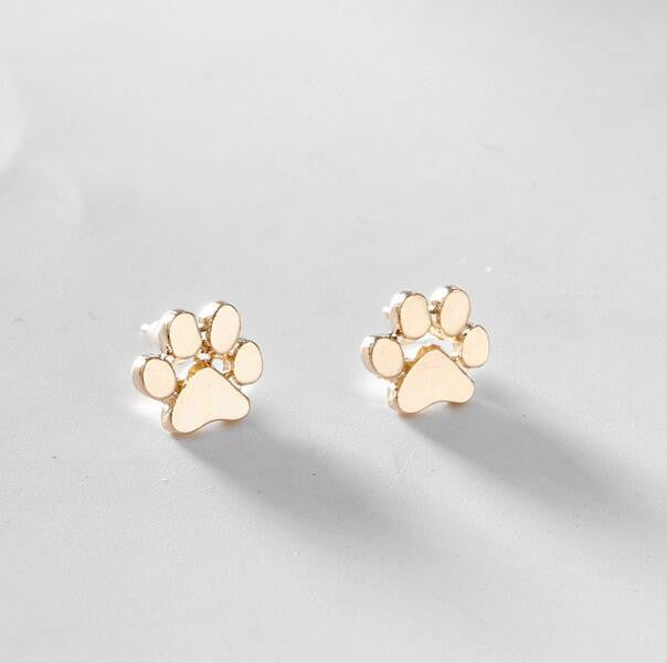 Paw Earrings-either Rose-Gold, Silver or Gold