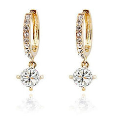 Gold or Silver Swarovski Element GK Drop Earrings