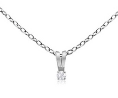 DIAMOND NECKLACE AND EARRING SET IN STERLING SILVER