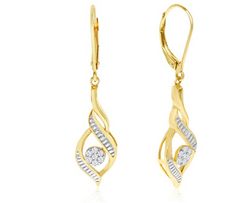 DIAMOND DESIGNER DROP EARRINGS