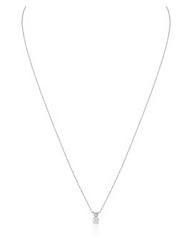 DIAMOND SOLITAIRE NECKLACE WITH18 INCH CHAIN