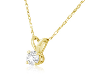 DIAMOND PENDANT IN 14K YELLOW GOLD