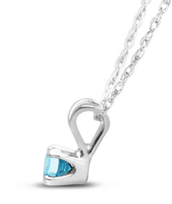 BLUE DIAMOND SOLITAIRE NECKLACE