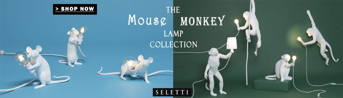 The Monkey and Mouse Lamp Collection by Seletti