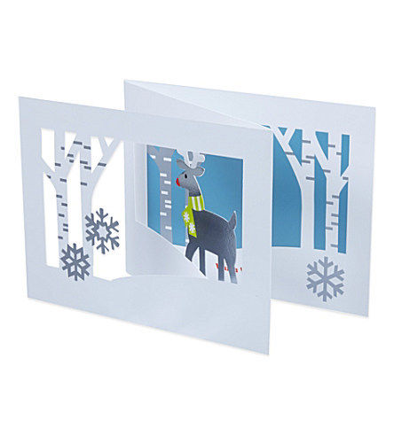 Deer in forest 3d pop up holiday christmas cards by moma zillymonkey deer in forest 3d holiday cards by moma m4hsunfo