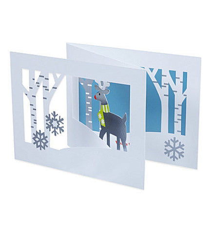Shop moma home decors gifts today zillymonkey tagged greeting card deer in forest 3d holiday cards by moma m4hsunfo Image collections