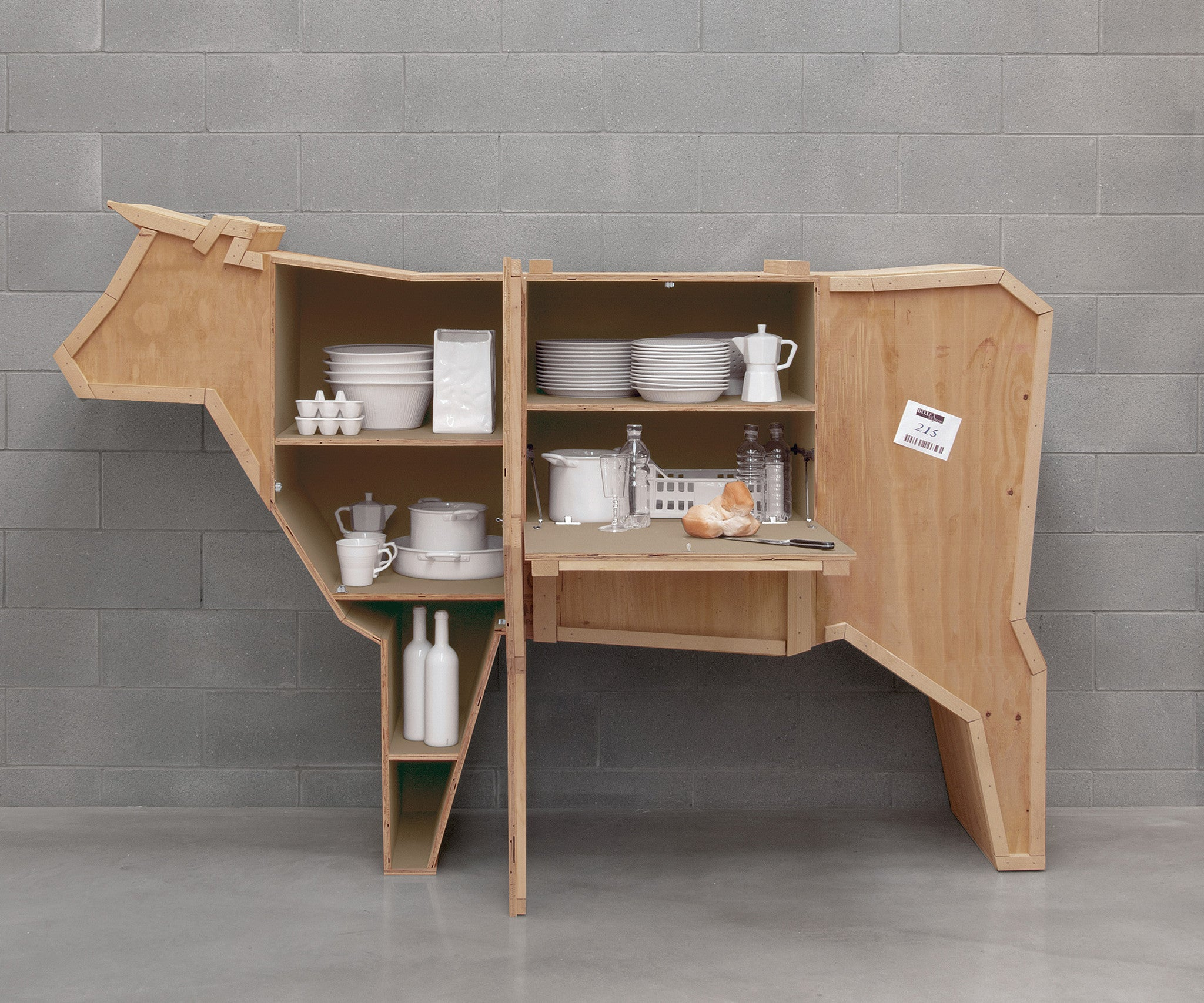 Exceptionnel Sending Cow Animal Wood Crate Furniture By Seletti ...