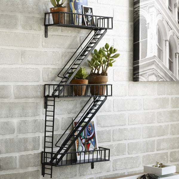 Fire Escape Wall Shelf Urban Decor By Design Ideas 99 Zillymonkey