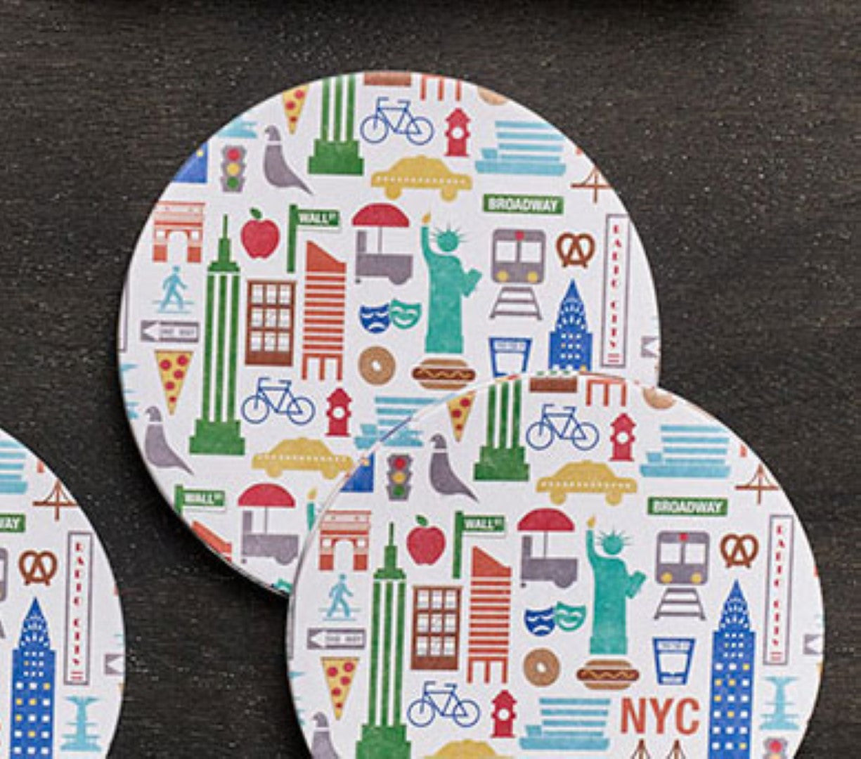 New york city icon coasters design ideas zillymonkey for Coaster design ideas