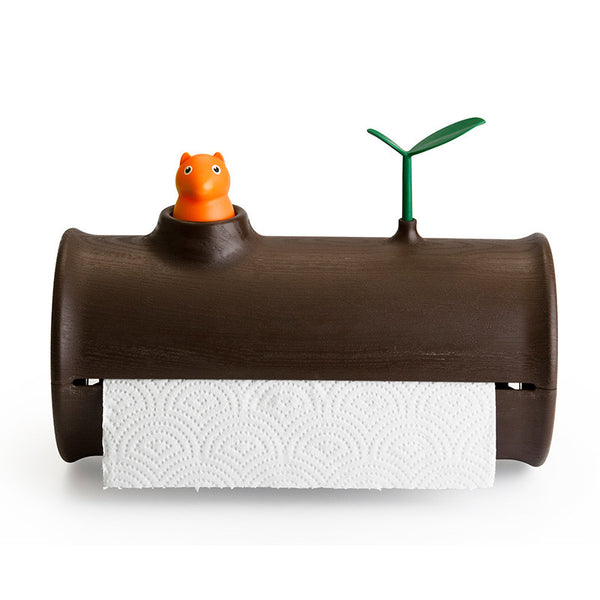 Squirrel Log Table Counter Top Paper Towel Tissue Holder