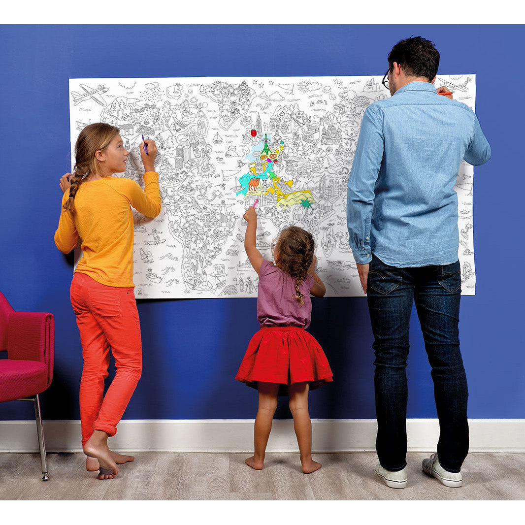 Poster design xxl - Giant Xxl Coloring Roll Wall Poster Atlas