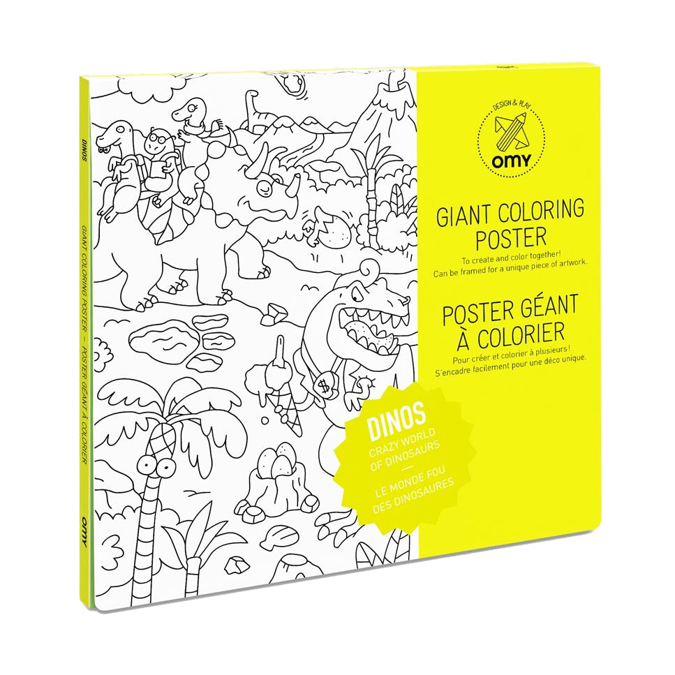 OMY Giant Coloring Wall Poster - Dino | zillymonkey