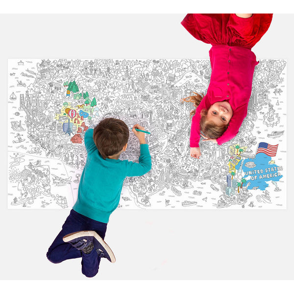 Map products zillymonkey giant xxl coloring roll wall poster usa map gumiabroncs Gallery