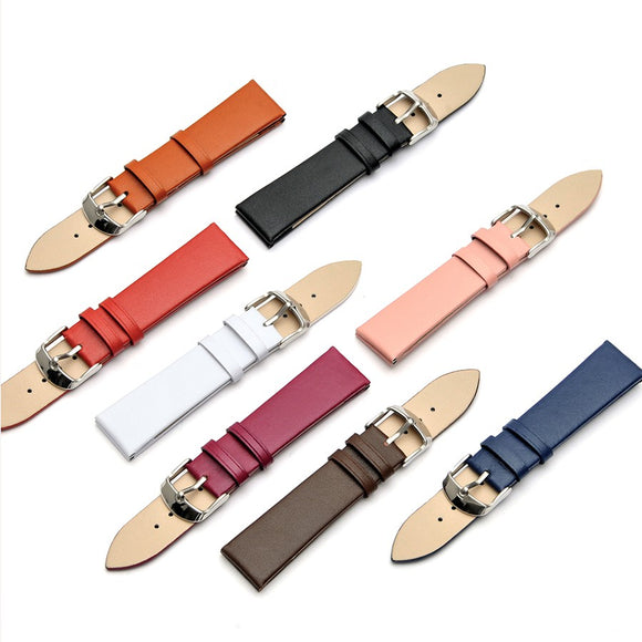 12MM 14MM 16MM 18MM 20MM 22MM Smooth Grain Genuine Leather Watches Band Watch Strap Men Women Strap