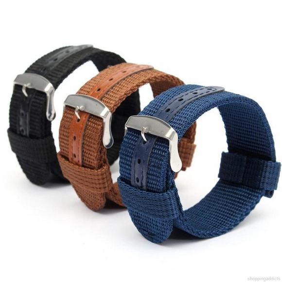 Watch Strap Woven Nylon Universal Watch Band Soft Sport Strap For Gear 18mm 20mm 22mm 24mm