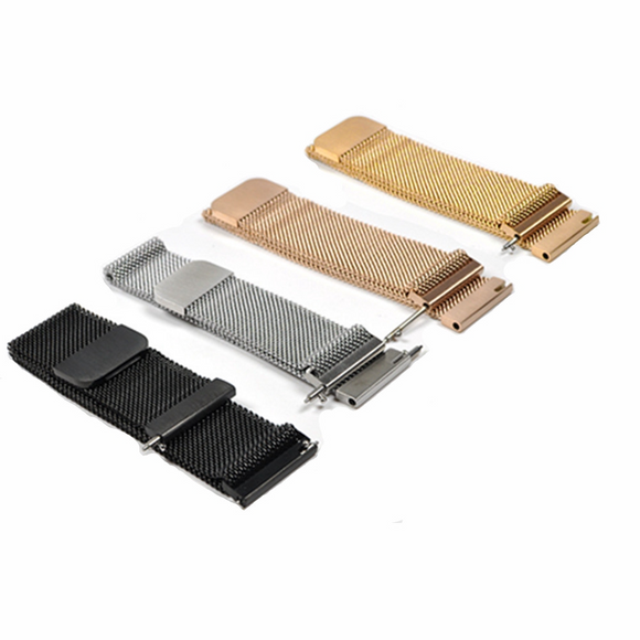 14mm 16mm 18mm 20mm 24mm 22mm 24mm Stainless Steel Milanese Loop Watch Band Magnetic Clasp Wrist Strap Metal Bracelet