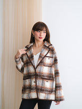 Load image into Gallery viewer, Maude Plaid Wool Tweed Blazer