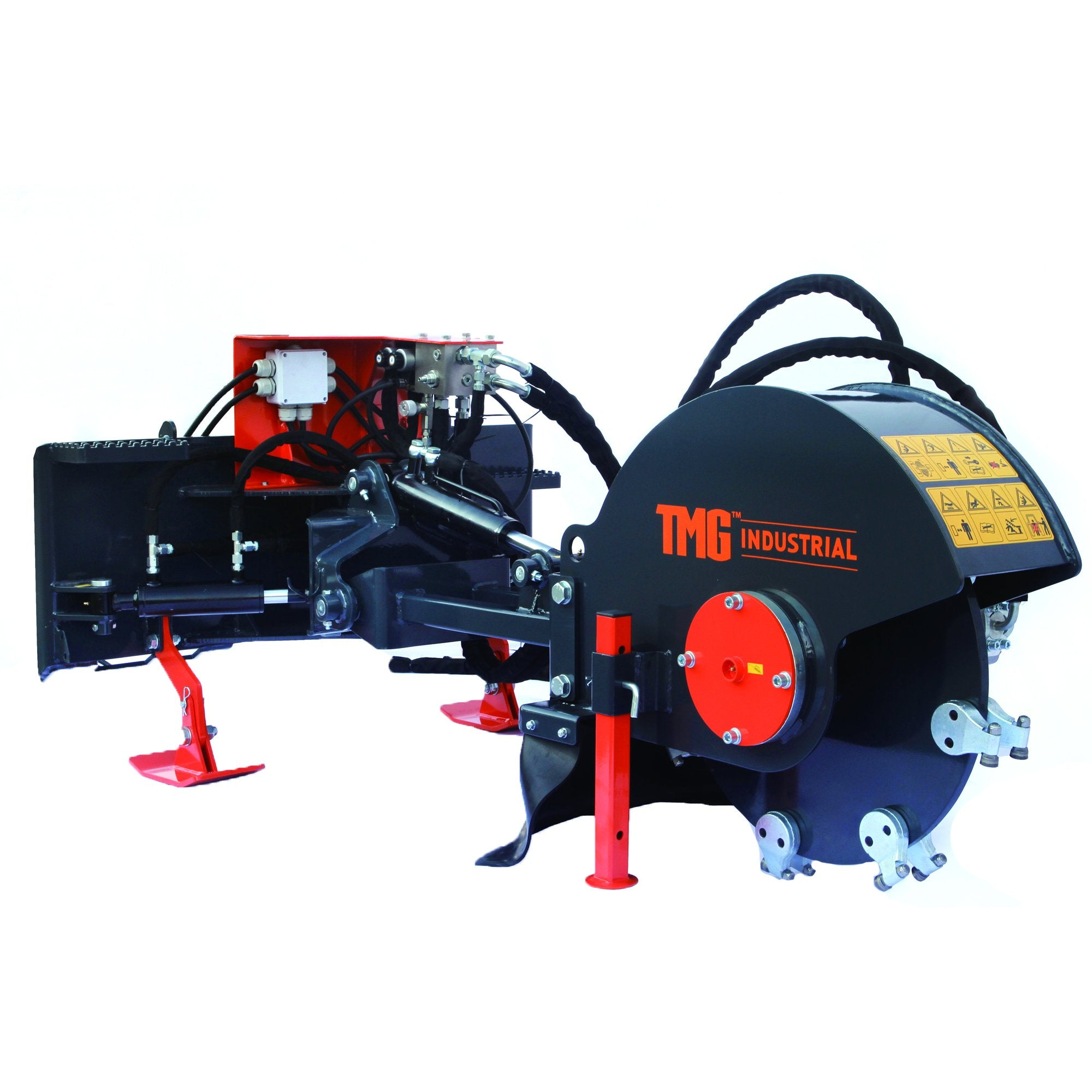 Commercial Grade 24-in Skid Steer Stump Grinder Attachment
