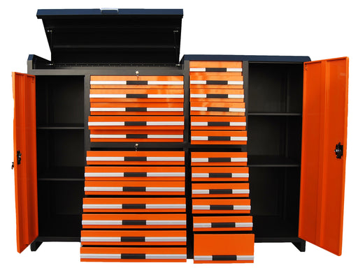 "85"" Multi-Drawer Tool Storage Chest for Workshops and Garages"