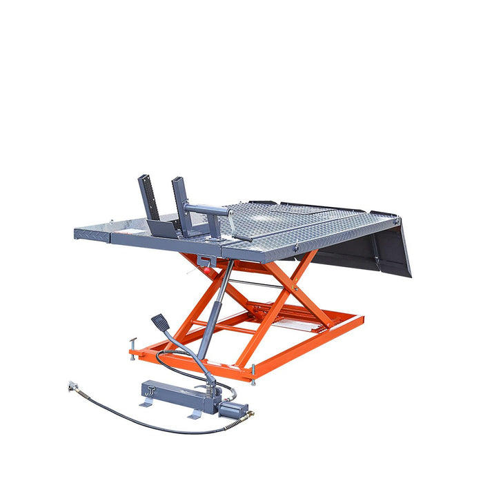 1500-lb Portable Motorcycle/ATV Lift with Side Extensions
