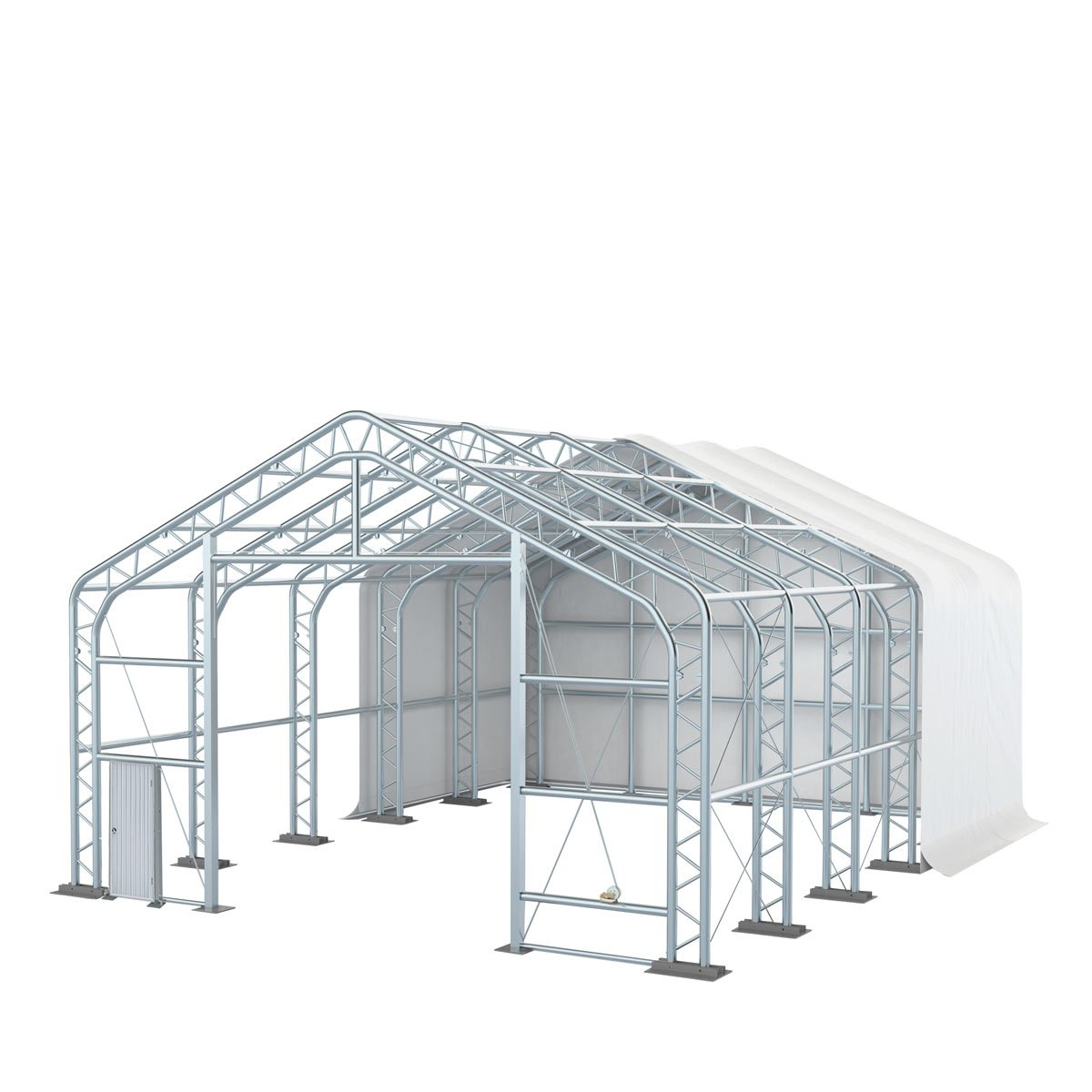 Pro Series 30' x 40' Dual Truss Storage Shelter with Heavy Duty 17oz PVC Fabric