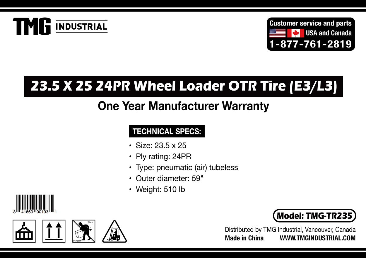 23.5 x25 24 PLY Wheel Loader Tire