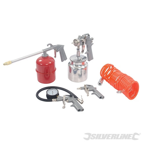 5PCE AIR TOOLS & COMPRESSOR ACCESSORIES KIT 5PCE-tooltime.co.uk