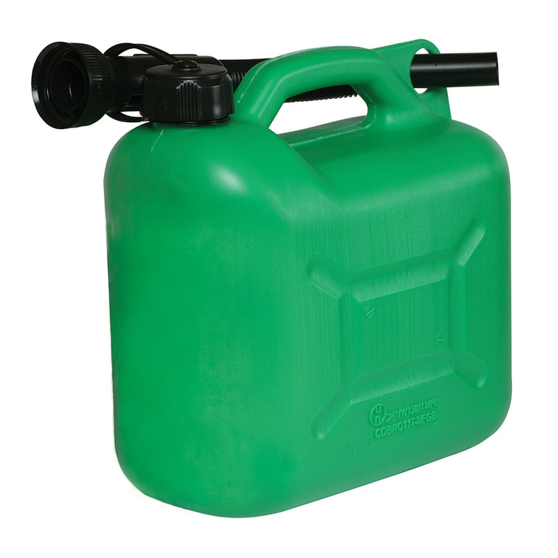 PLASTIC FUEL CAN 5LTR GREEN 847074-tooltime.co.uk