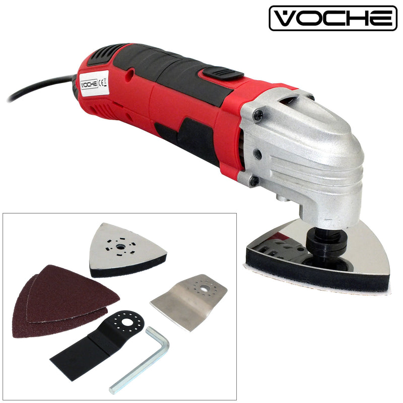 VOCHE® 300W MULTI-FUNCTION OSCILLATING DETAIL SANDER CUTTER & SCRAPER POWER TOOL - tooltime.co.uk