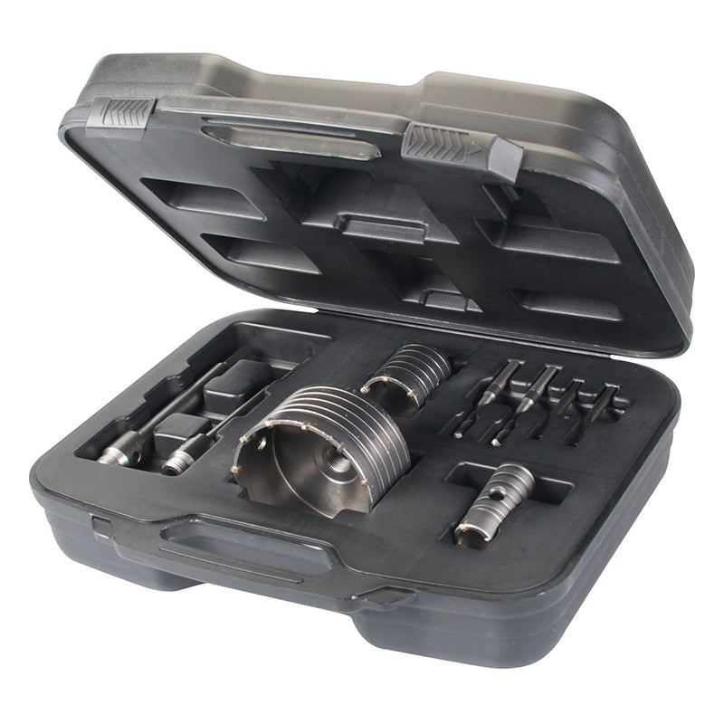 30, 50 & 110MM TCT CORE DRILL KIT 9PCE 633523-tooltime.co.uk