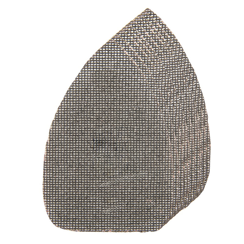4 X 40G, 4 X 80G, 2 X 120G HOOK & LOOP MESH TRIANGLE SHEETS 140 X 100MM 10PK 519 - tooltime.co.uk