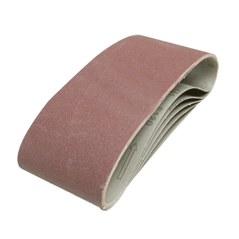 40 GRIT SANDING BELTS 100 X 610MM 5PK 730880-tooltime.co.uk