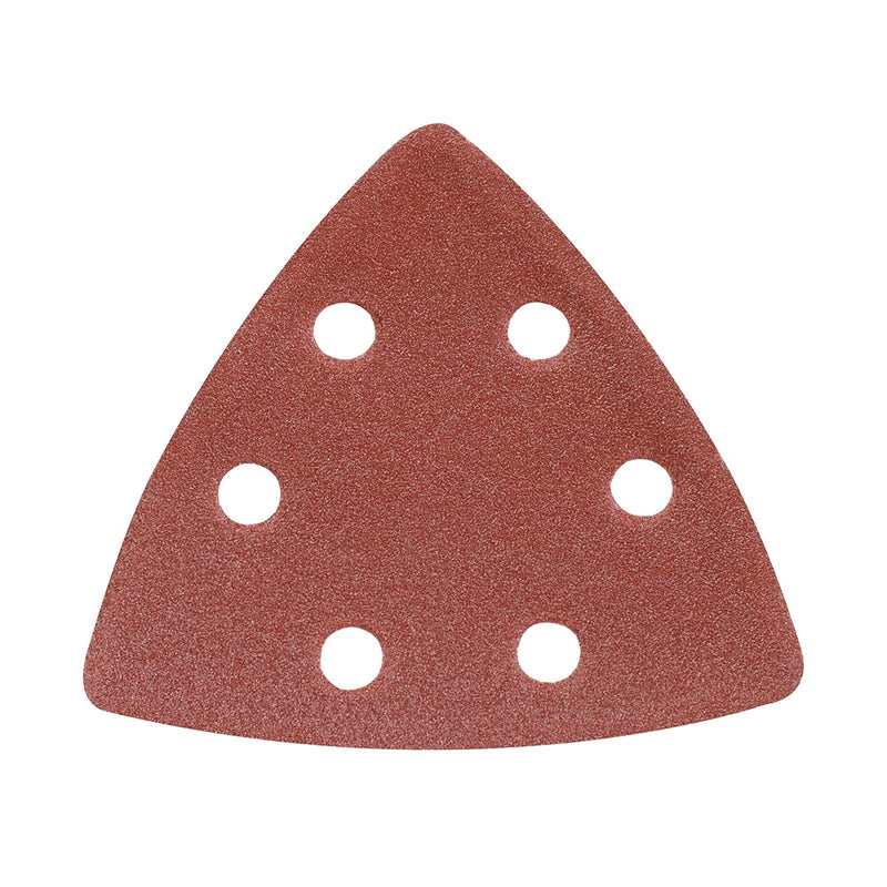 120 GRIT HOOK & LOOP TRIANGLE SHEETS 90MM 10PK 826718-tooltime.co.uk