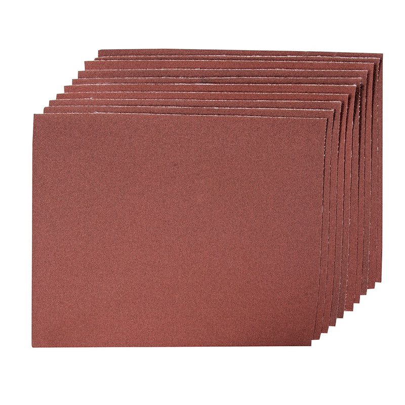 180 GRIT EMERY CLOTH SHEETS 10PK 733249-tooltime.co.uk