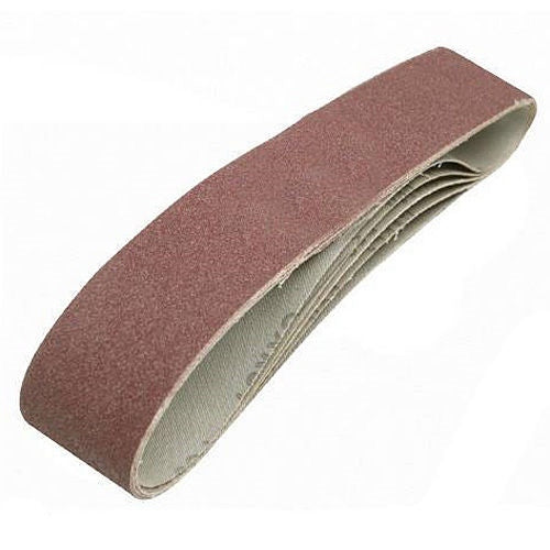 15PC 10MM X 330MM AIR SANDER SANDING BELTS MIXED GRIT POWERFILE - tooltime.co.uk