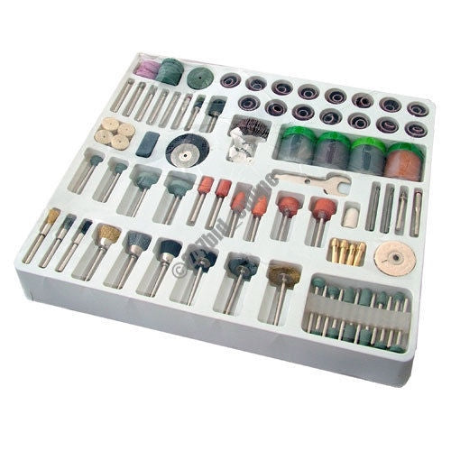 216 PC MINI ROTARY POWER DRILL HOBBY TOOL ACCESSORY KIT FITS DREMEL MULTI TOOLS - tooltime.co.uk