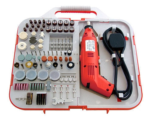 162PCE DREMEL STYLE ELECTRIC 130W ROTARY MINI DRILL & BITS KIT JEWELLERY MAKING - tooltime.co.uk