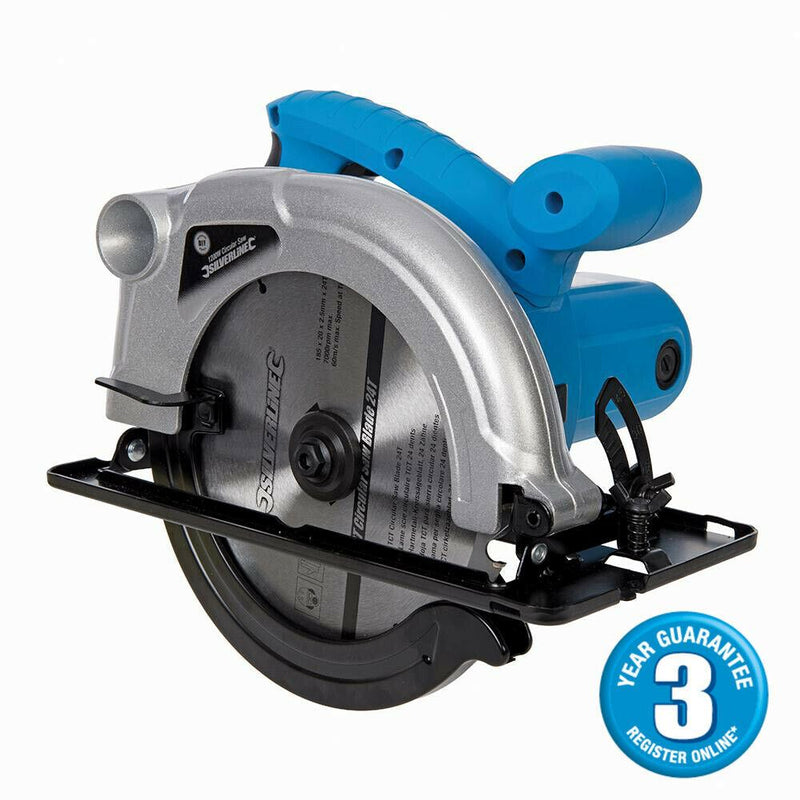 SILVERLINE HEAVY DUTY 1200W 230V TCT CIRCULAR SAW 185MM 3 YEAR WARRANTY 845135-tooltime.co.uk