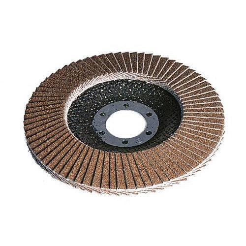 "12 x 115mm 40G 40 GRIT ALUMINIUM OXIDE FLAP DISC FOR 4 1/2"" ANGLE GRINDER - tooltime.co.uk"