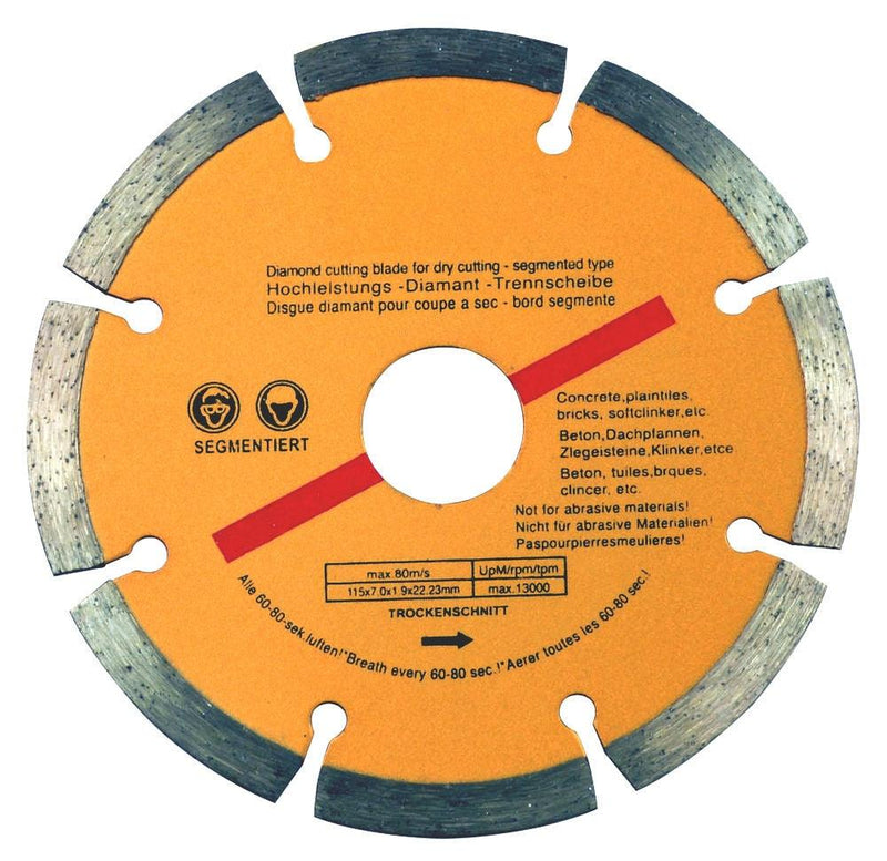 "10 x 115mm 4.5"" ANGLE GRINDER DIAMOND CUTTING DISC BLADE CONCRETE STONE BRICK - tooltime.co.uk"