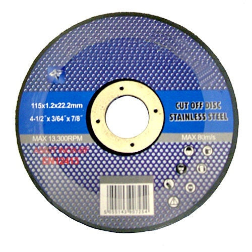 "50 X 4 1/2"" THIN STAINLESS STEEL METAL CUTTING DISC ANGLE GRINDER 4.5"" 115MM - tooltime.co.uk"